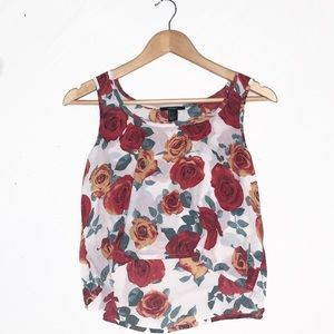 🌹3 for 25🌹 Rose Flowy Tank Top